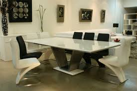 white marble top dining table