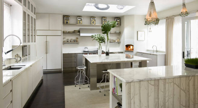 Small Kitchen Design White Cabinets white walls