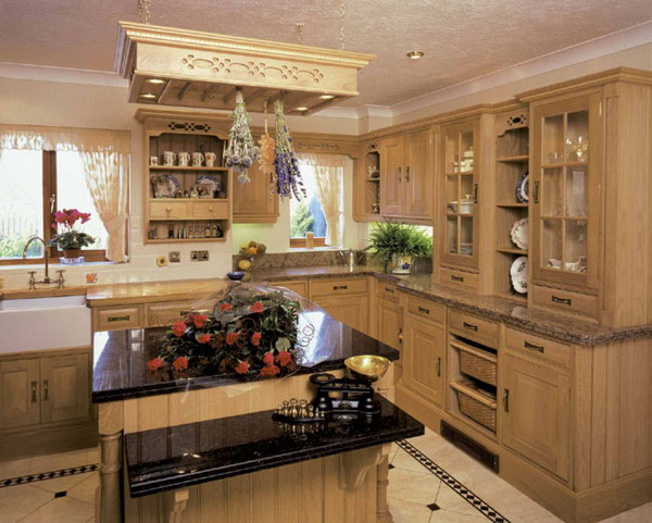 small kitchen design ideas with wooden classic kitchen cabinets