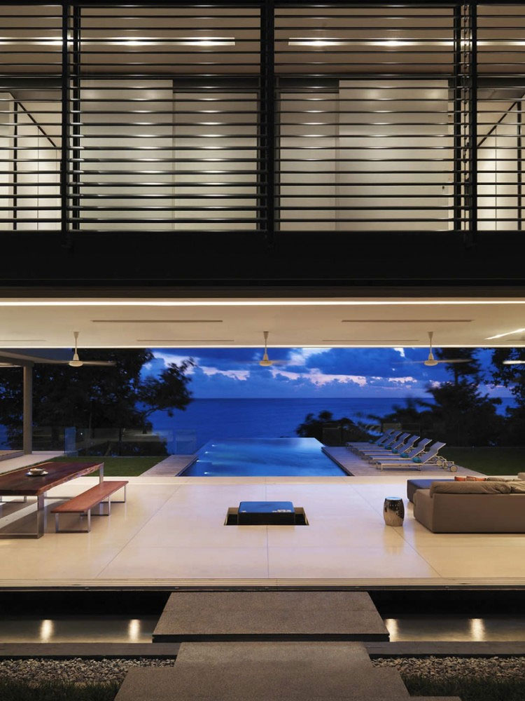 Sea View From Minimalist House With Swimming Pool