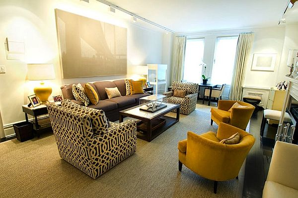 Yellow And Grey Living Room. VIEW IN GALLERY luxury grey and yellow living room 15 Fascinating Grey And Yellow Living Room Designs