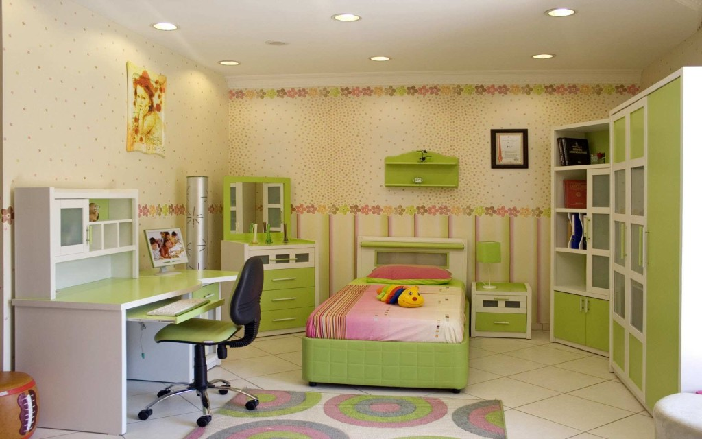 Lime Green Childrens Room (10)