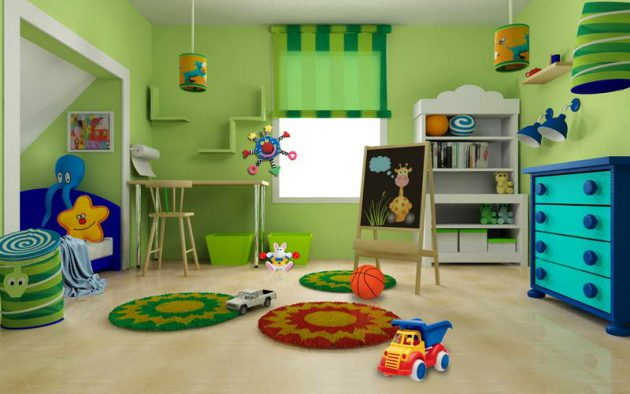 Lime Green Childrens Room (3)
