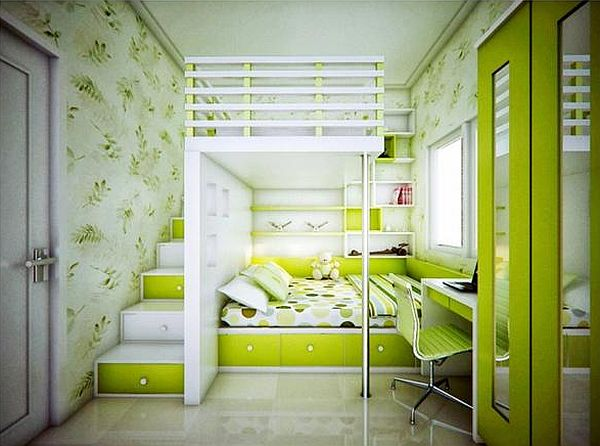 Lime Green Childrens Room (4)