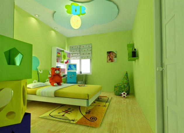 Lime Green Childrens Room (5)