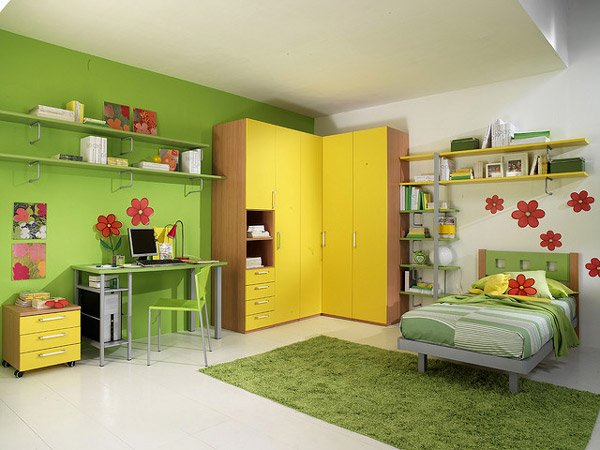Lime Green Childrens Room (8)