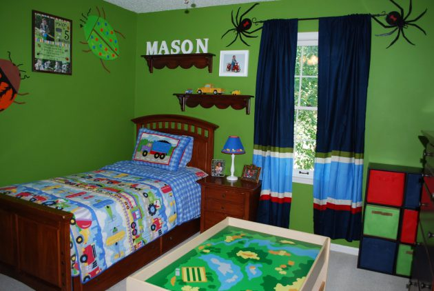 Lime Green Childrens Room (9)