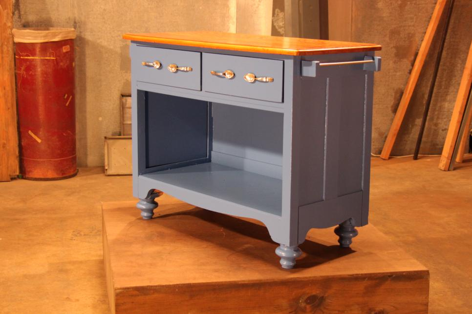 Old Dresser into Rustic Kitchen Island after