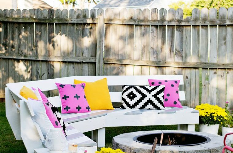 cool fire pit benches with backs