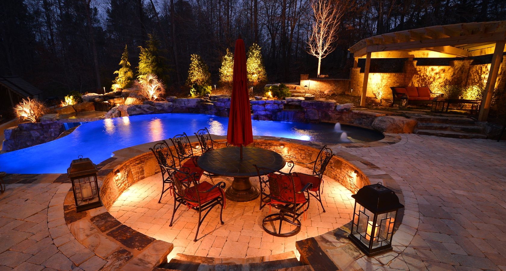 outdoor accent lighting ideas. view in gallery atlanta georgia accent outdoor landscpae lights lighting ideas
