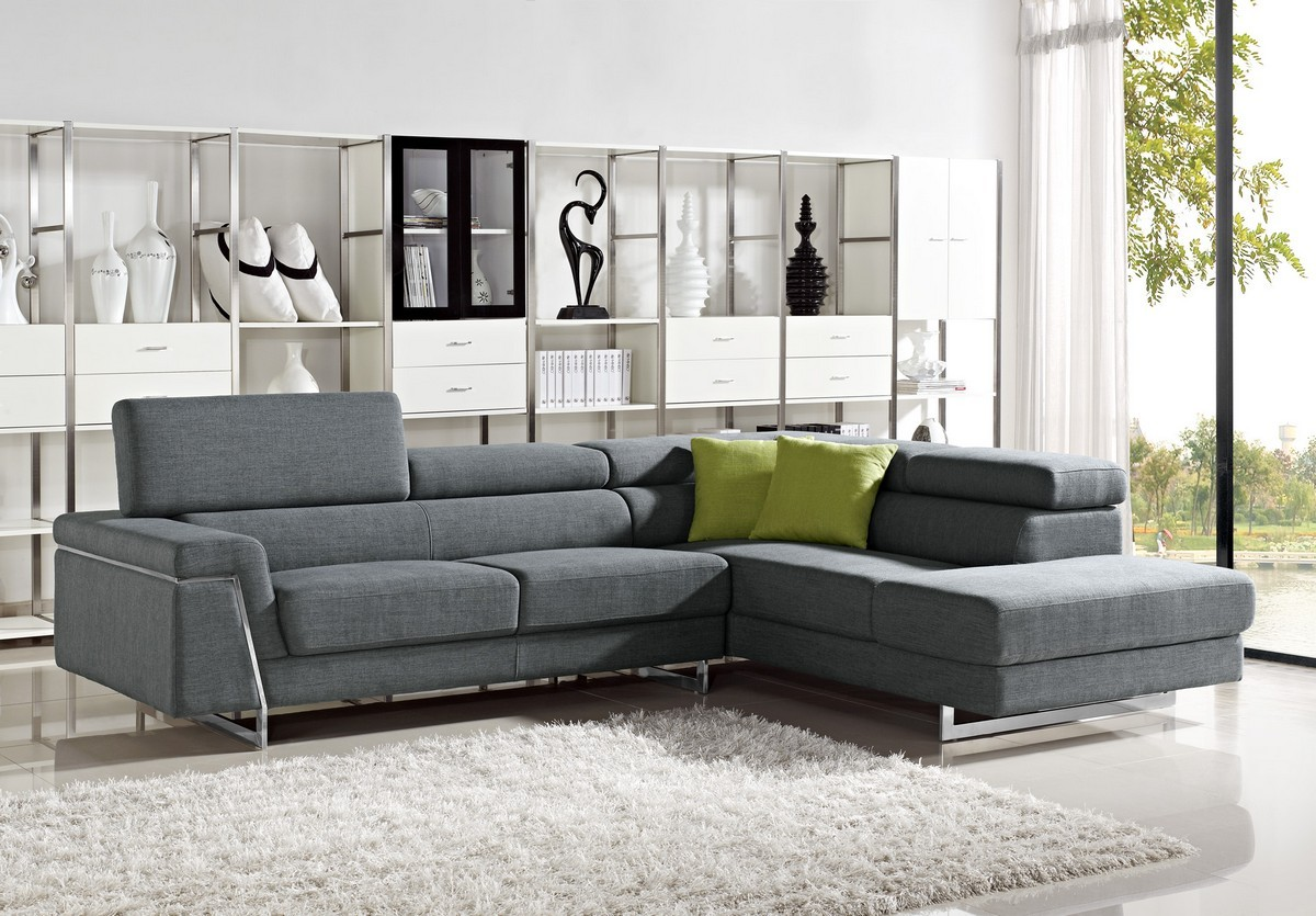 Amusing Design Of The Black Fabric Sofa Ideas With White Rugs As The Modern Sofa Sets Ideas