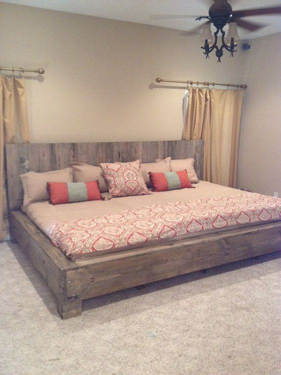 Building A Bed Frame From Recycled Wood Pallet For Weekend Project