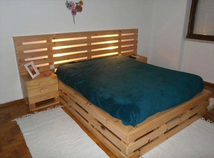 VIEW IN GALLERY Pallet Bed Frame And Headboard Diy
