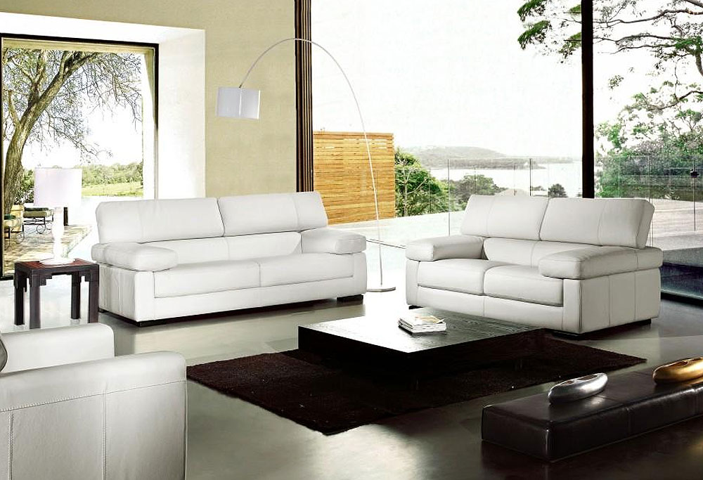 Surprising Contemporary Leather Sofa Sets Taupe Set