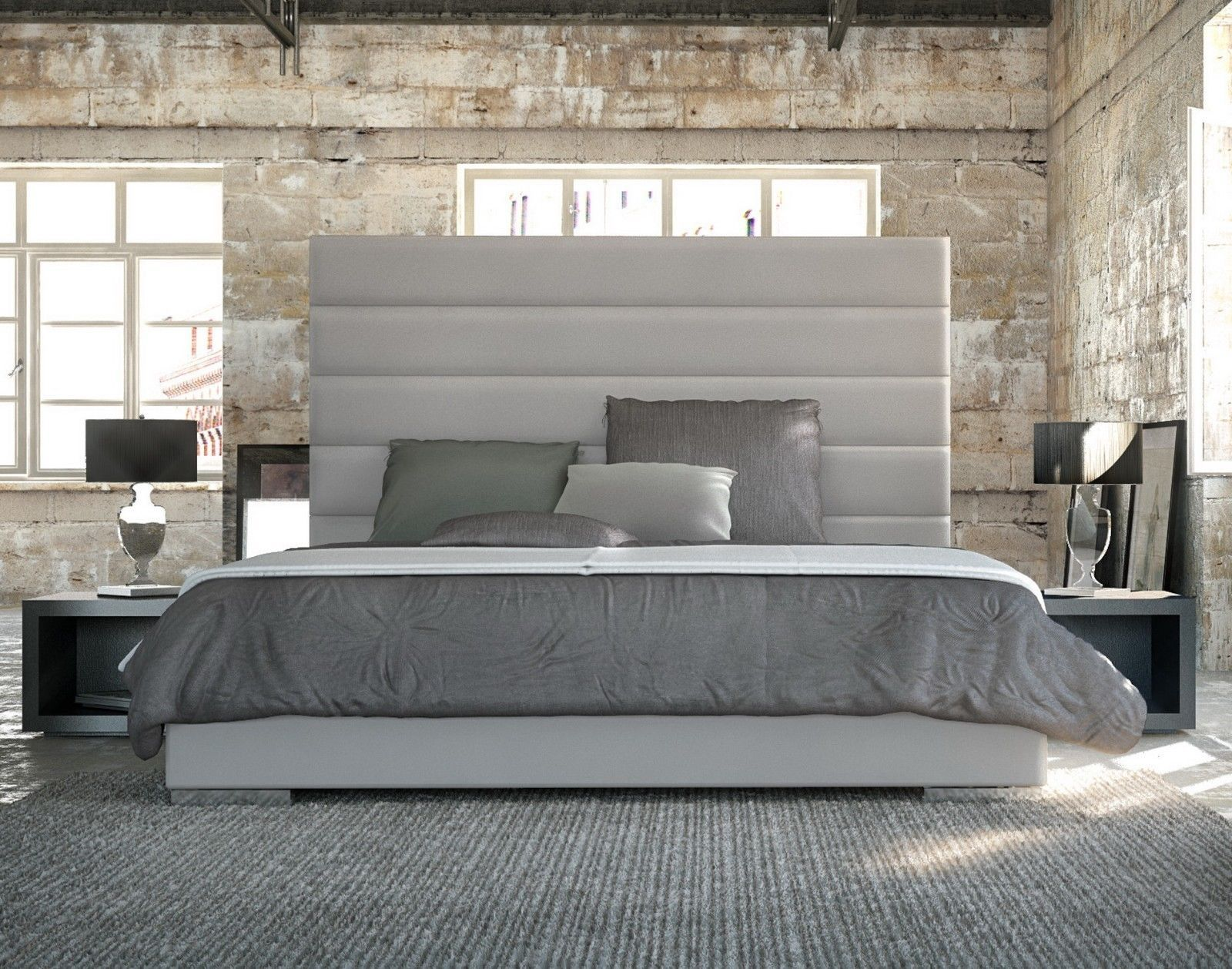 white california king size leather bed frame with upholstered headboard ideas