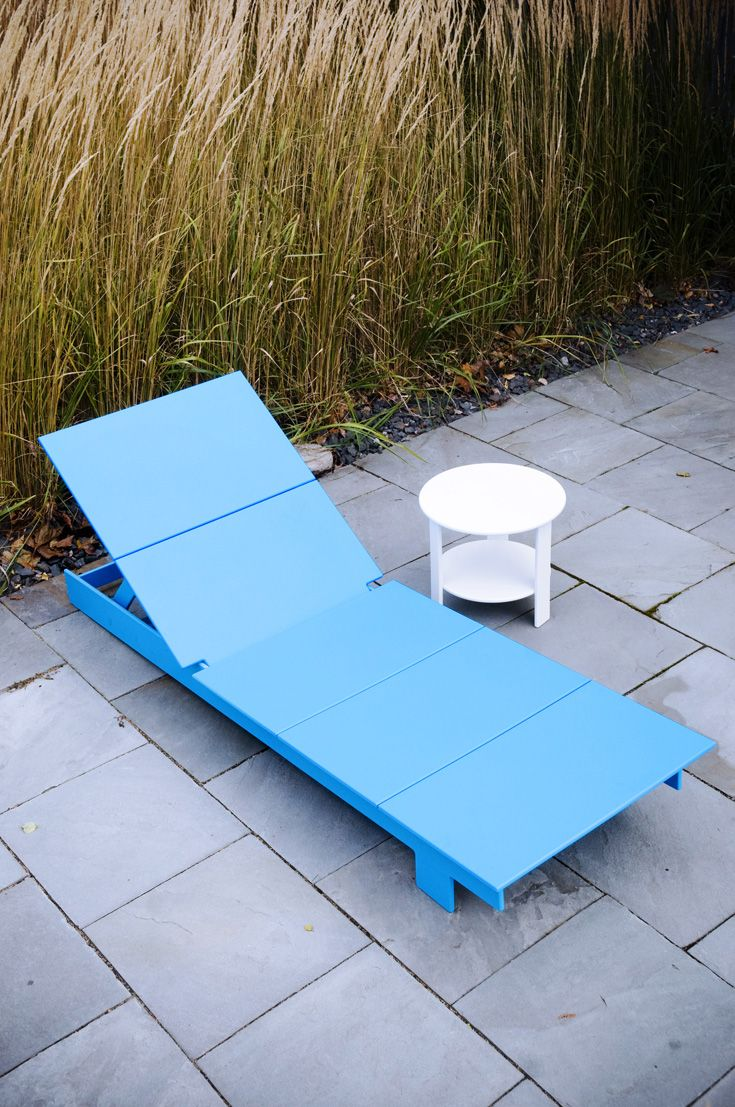 Awesome Patio Furniture Chaise Lounge Chairs With Round White Side Table