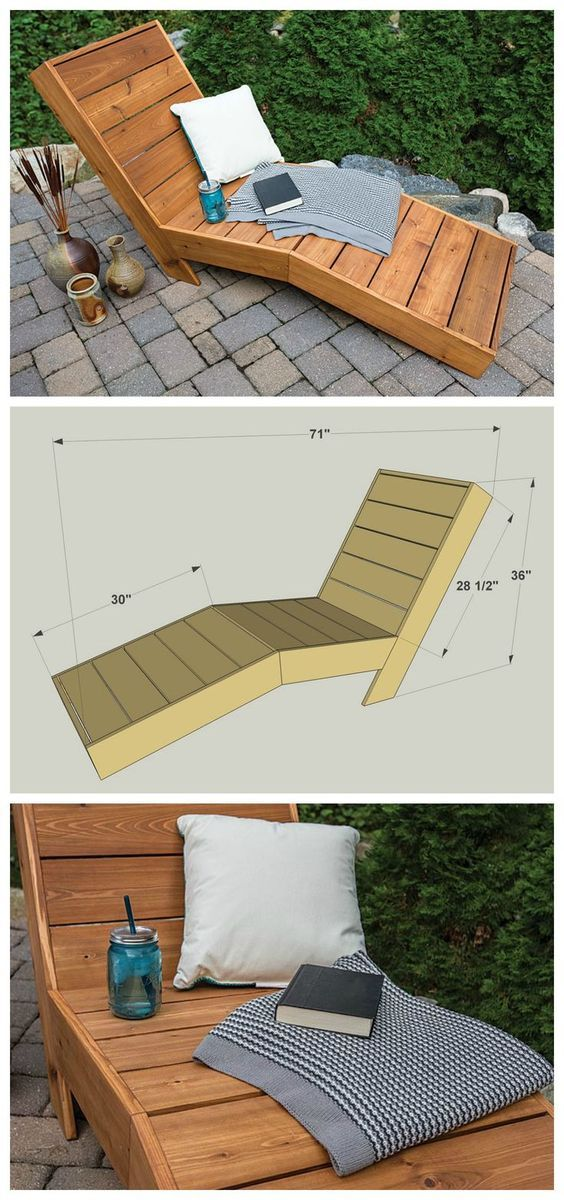 diy lounge furniture. VIEW IN GALLERY DIY Patio Chaise Lounge For Outdoor Furniture Diy