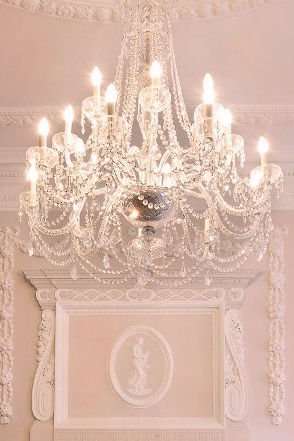 Shabby Chic Dining Room Chandelier Design and Ideas