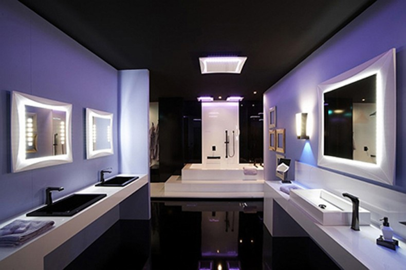 modern bathroom led lighting
