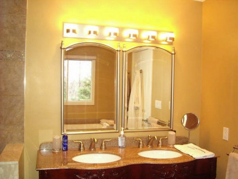 View In Gallery Modern Bathroom Lighting Fixtures With Yellow Part 77