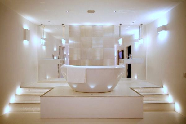 with white bath vanity bathroom lighting contemporary modern