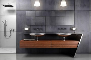 Modern bathroom double vanity cabinets