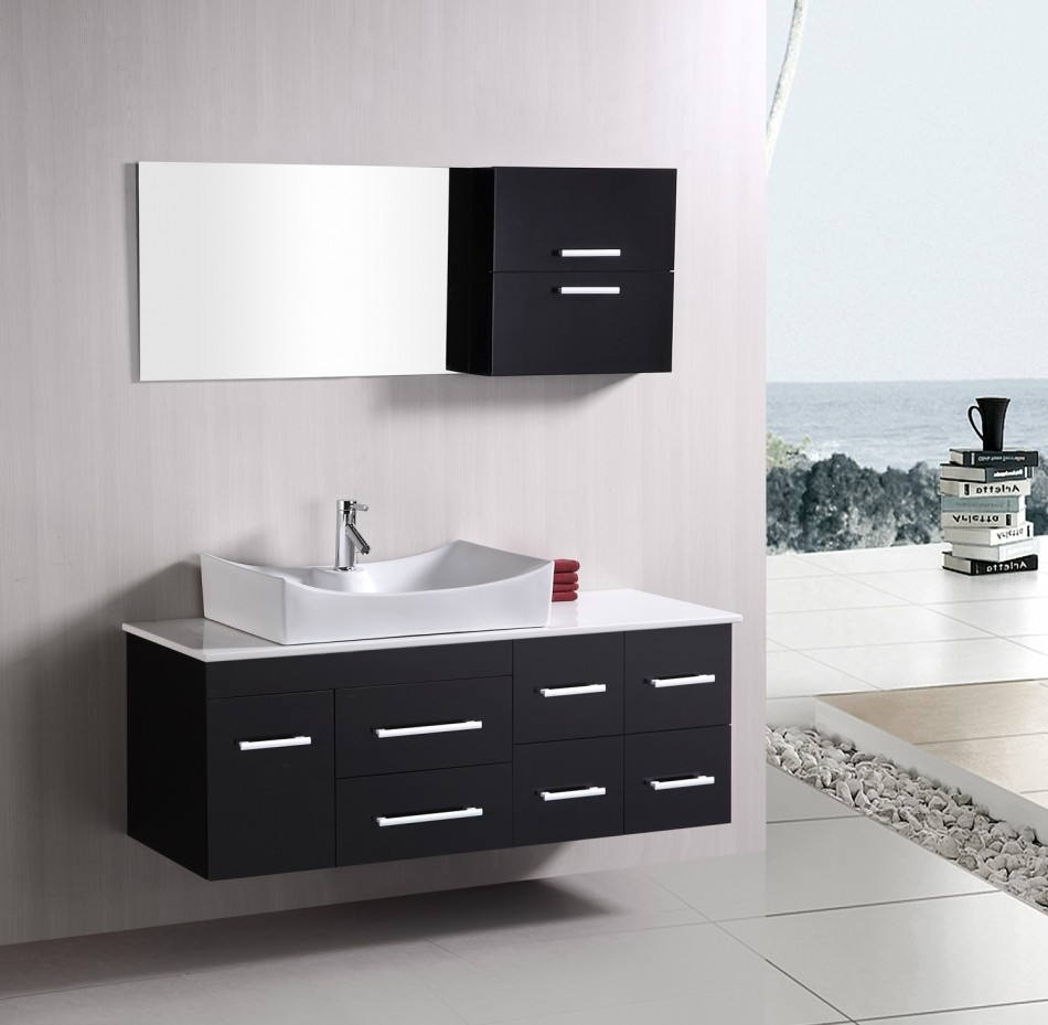 VIEW IN GALLERY Modern Contemporary Bathroom Vanity Cabinets With Single  Sink