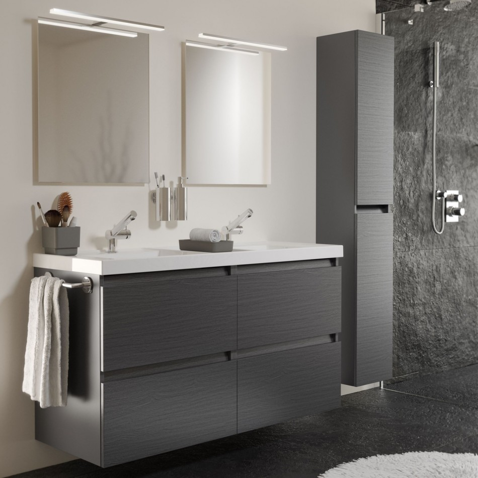 Modern double vanity cabinets bathroom