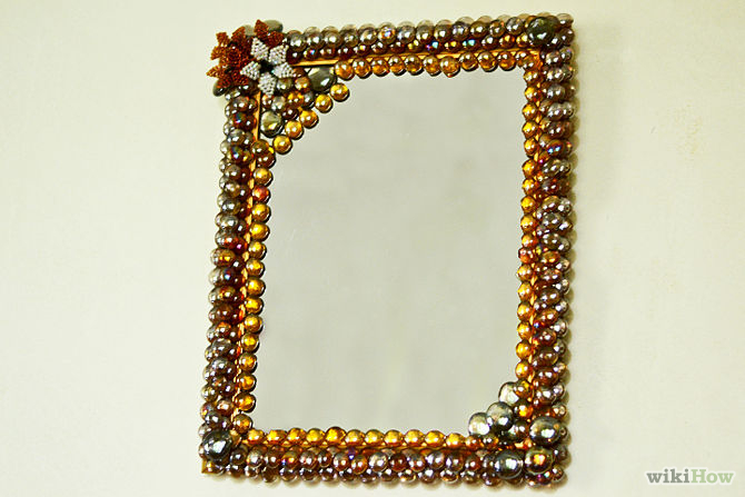 Mirror With Costume Jewelry