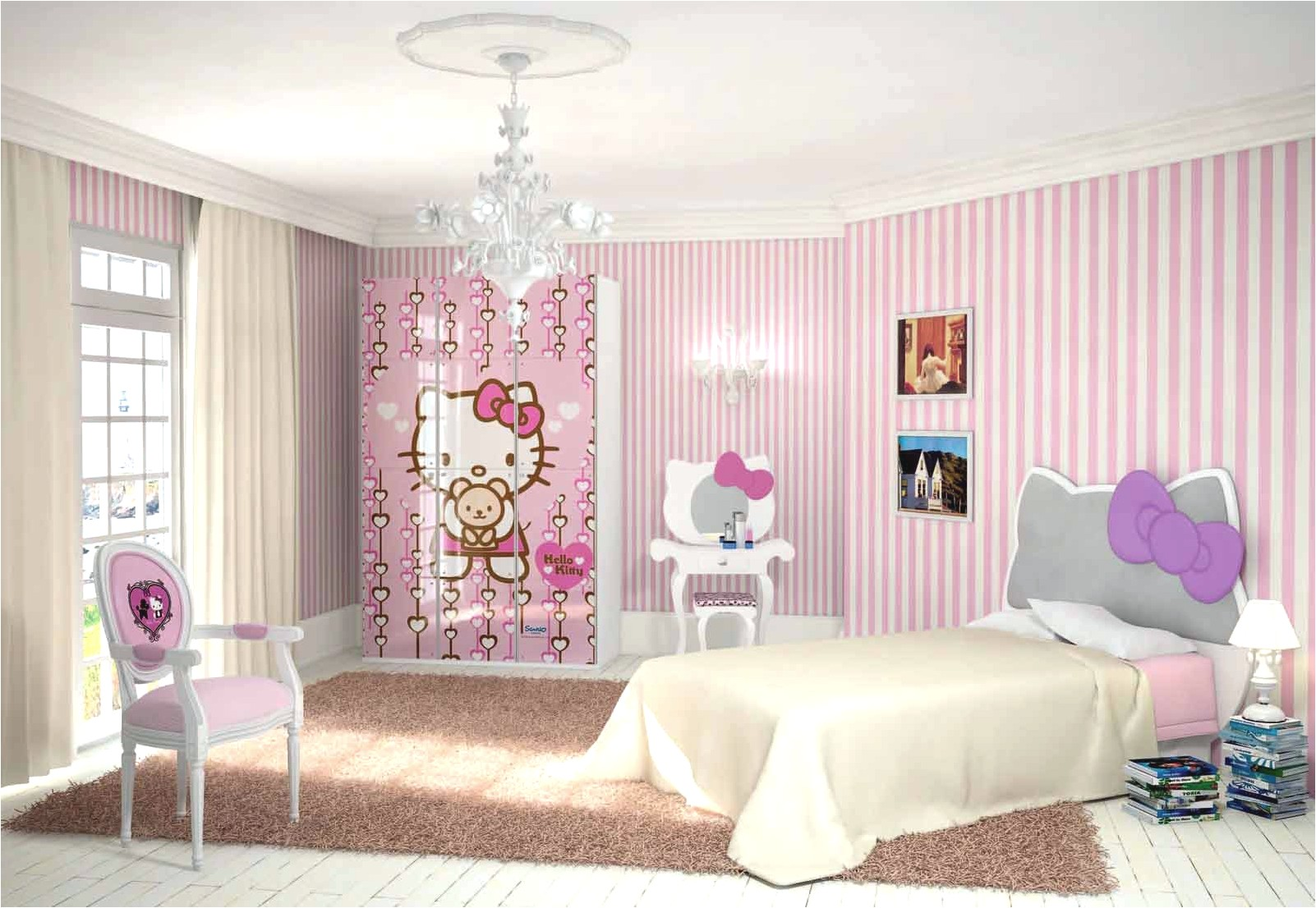 Wonderful Hello Kitty Room Design Ideas Part - 10: VIEW IN GALLERY Hello-kitty-bedroom-design-ideas-for-teen-girl