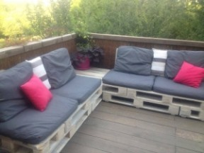 homemade pallet sofa design