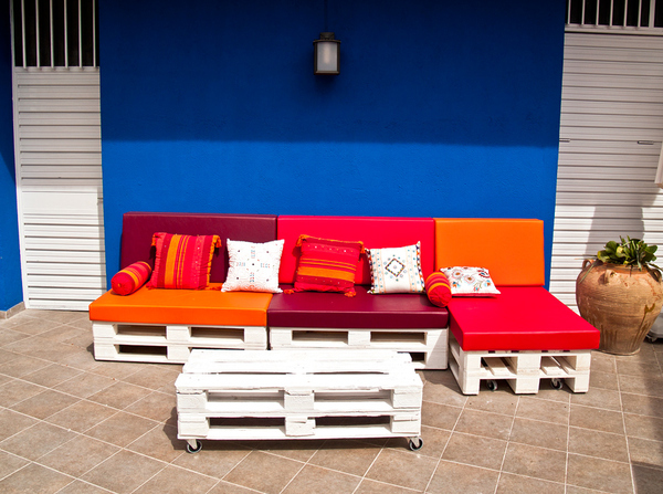 pallet sofa design for outdoor