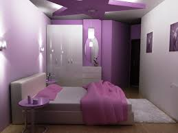 purple wall bedroom design ideas for teenagers