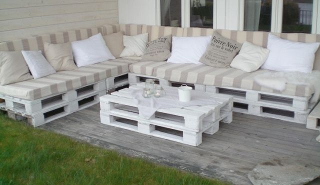 white pallet sofa design ideas