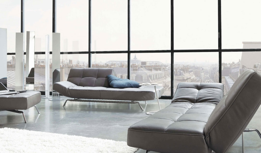 VIEW IN GALLERY Modern Contemporary Style Furniture In Light Grey Color Sofa