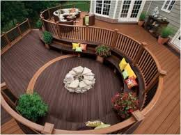 circle wooden deck ideas1