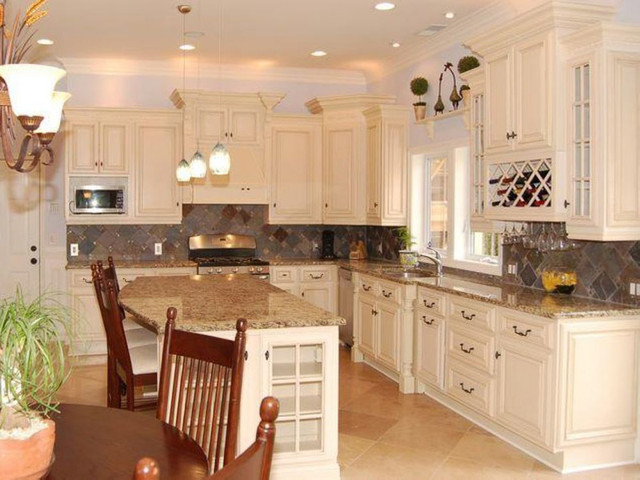 exceptional Cream Colored Kitchen Cabinets With White Appliances #9: view in gallery cream kitchen cabinets with white appliances