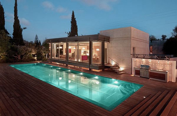 28 truly awesome wooden deck designs for your home for Pool veranda designs