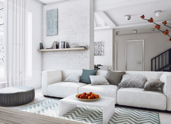 feminine apartment decoration also modern white sofa