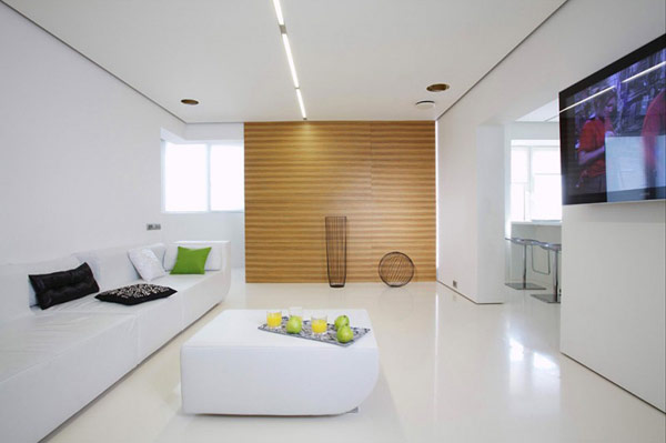 VIEW IN GALLERY furnished studio apartment minimalist