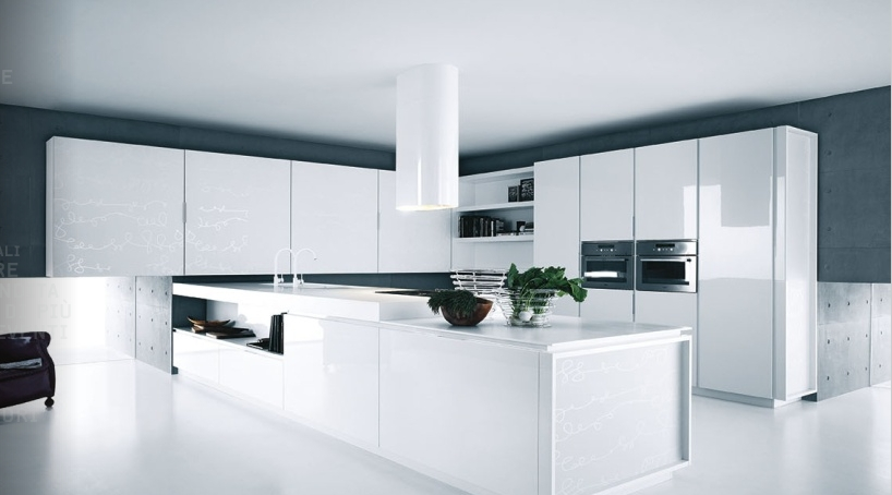 View In Gallery Modern White Kitchen Cabinets