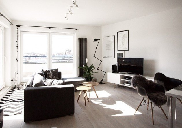 small apartment studio design for men