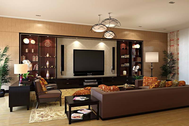 VIEW IN GALLERY Small Studio Apartment Interior Design With Brown Sofa  Design