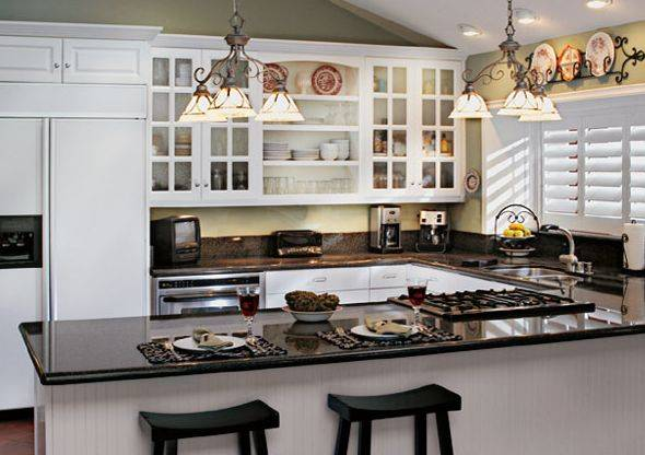 10 small kitchen design ideas will worth your money hgnv for Small kitchens with white cabinets
