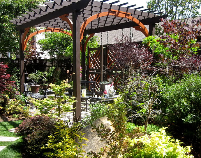 15 Pergola Design Ideas Design Black Color Wooden Pergola Small Yard