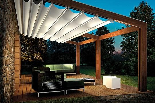 15 Pergola Design Ideas Design With White Sliding Canopy