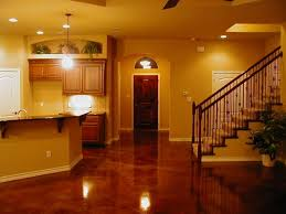 Laminated Concrete Floors Kitchen Flooring Options with Chandeliers on Dining Table