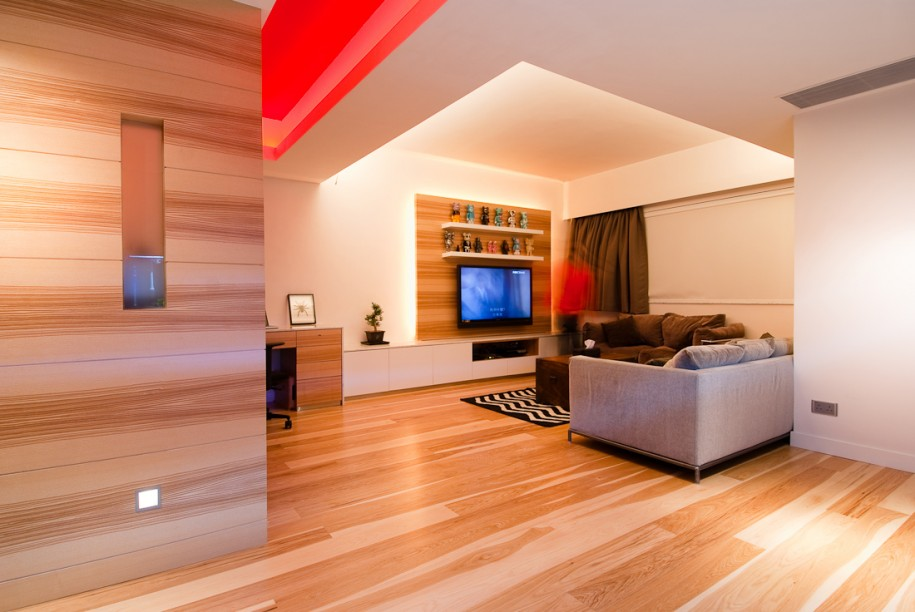 Modern Apartment Design Ideas With Wood Element - HGNV.COM