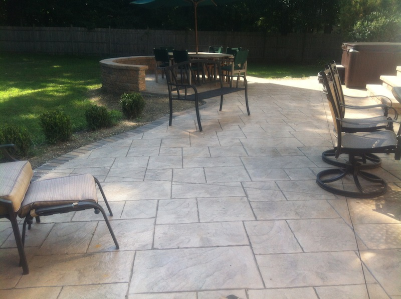 Mesmerizing Cool Stamped Concrete Patio Backyard