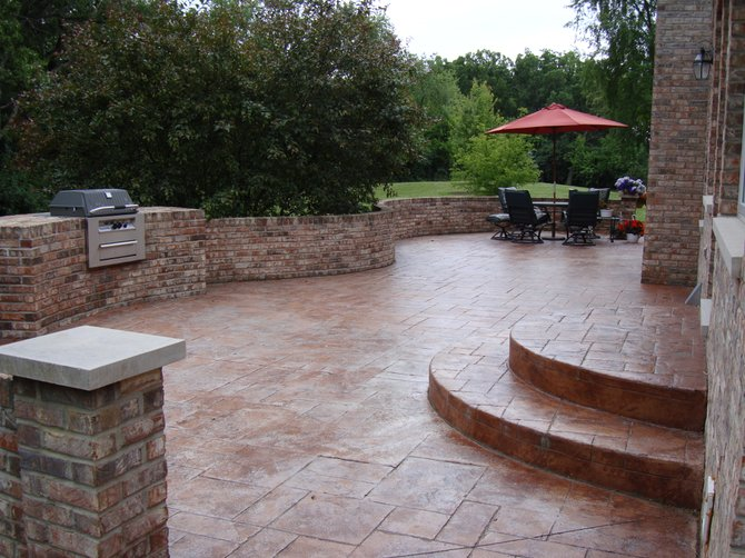 10 cool stamped concrete patio ideas for your patio garden for Cool outdoor patio ideas